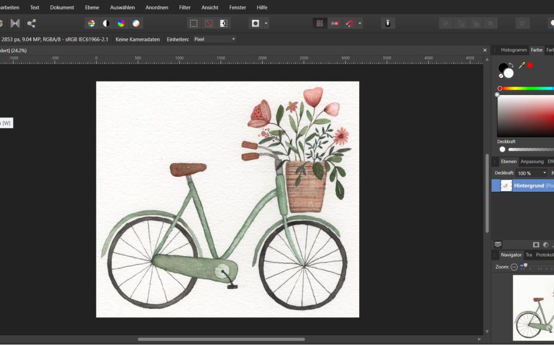 Illustrationen mit freistellen und bearbeiten