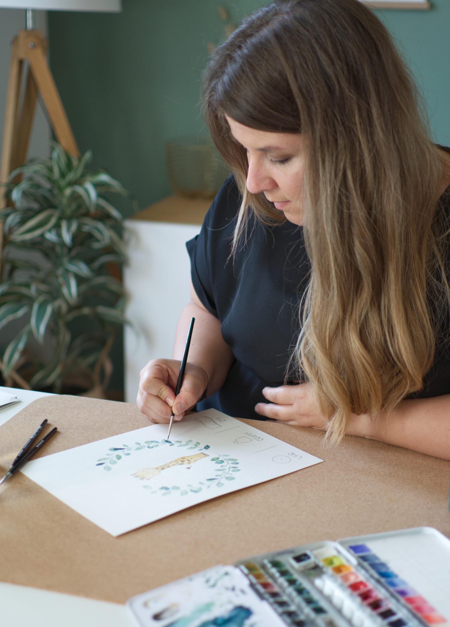 Kathi von Belettert.at - Lettering-Artist - Autorin - Watercolor - Online Shop - Das bin ich!