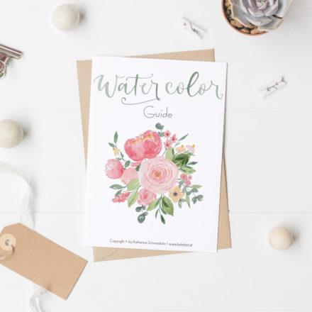digitaler Watercolor Guide - alle Grundlagen